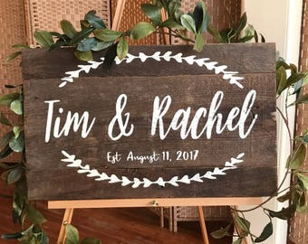 Wedding, anniversary, engagement gift, house warming. Personalized first names and wedding date