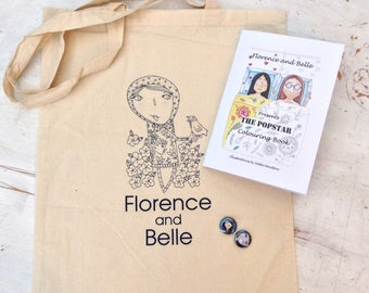 Florence and belle presents the popstar colouring book