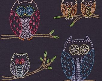 Night Owls Embroidery Pattern PDF