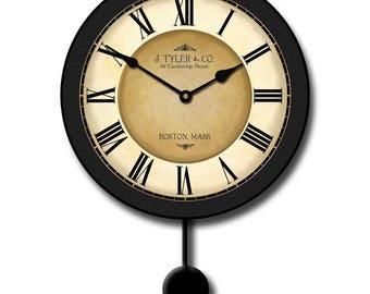 Galway Black Pendulum Wall Clock