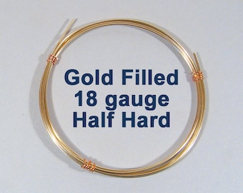 Gold Filled Wire - 18ga HH Half Hard - Choose Your Length