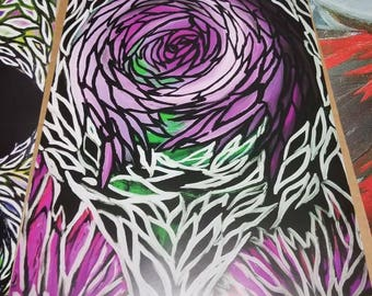 Abstract rose Print
