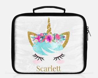 Unicorn Lunch Box, Unicorn Lunch Bag, Back To School, Personalized Unicorn Lunch Box, School Lunch Box, Lunch Tote, Custom Lunch Box