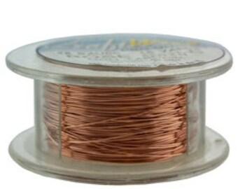 Craft Wire Tarnish Resistant Rose Gold Round Wire 28ga 15yd (WR6728R)