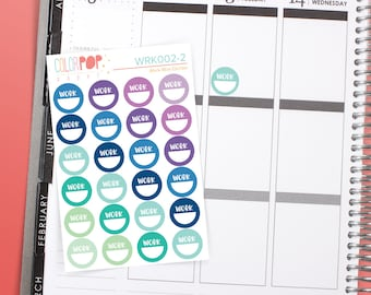 Work Stickers, Shift Work Stickers, Work Planner Stickers - WRK002