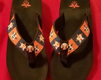 Houston Astros  Flip Flops  Sandals -Sizes - Small 4/5, Med. 6/7, Large 8/9, XL 10/11