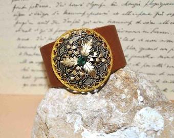 Sparkle Vintage Collage Bracelet