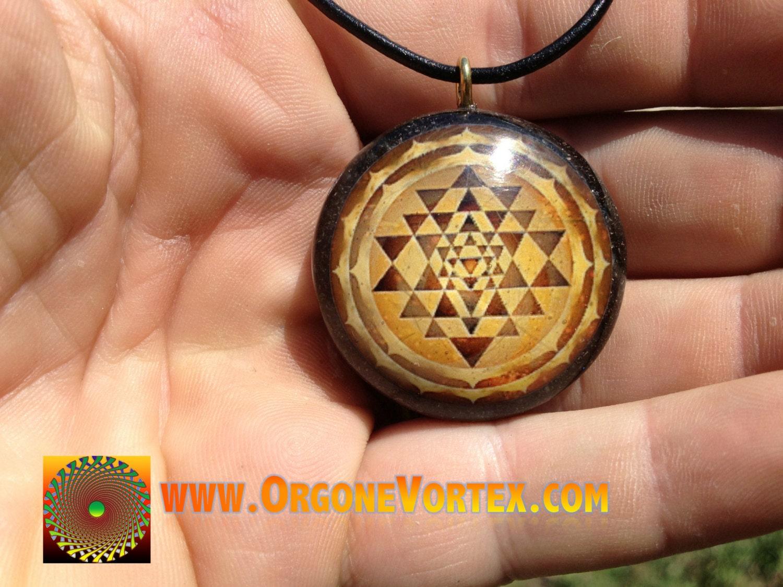 Tan sri yantra mandala orgone tesla pendant emf blocker zoom mozeypictures Image collections