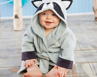"""Infant's Personalized """"Little Rascal"""" Raccoon Spa Robe"""