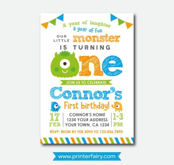 Little Monster Invitation Monster Birthday Invitations Monster