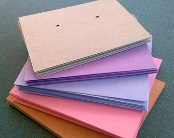 Earring cards, set of 30, Pastel Colors, post earring cards, printed jewelry cards, personalized