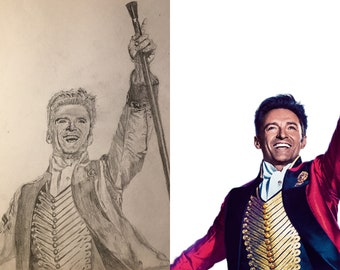 A3/4/5 Pencil Sketch of a Celebrity
