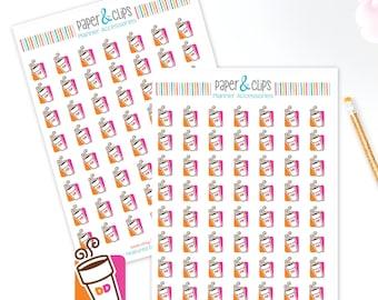 56 Dunkin Donuts reminder stickers, Planner Stickers, Reminder Stickers, Happy Planner, Calendar Stickers, Erin Condren Stickers