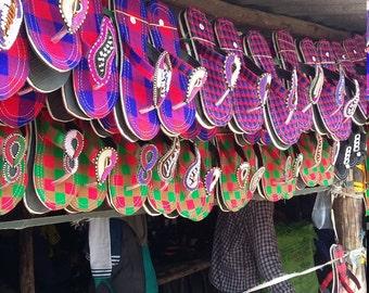 Fabric n Beaded Maasai Saddles