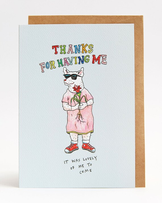 Thank you card funny thank you card thanks for having me altavistaventures Images