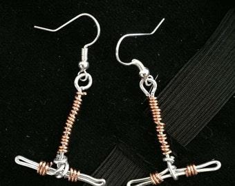 Copper IUD Earrings