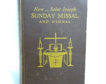 Vintage New St Joseph Sunday Missal book and Hymnal.1966 Pocket book Missal. Vintage Catholic Missal book