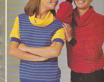 1980's Sewing Pattern - Knitwit 1000 Cowl Neck Dress, Top and Tabard Size 6 - 22 Factory folded and complete