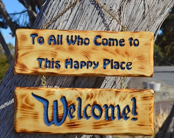 Disney Sign, To All Who Come to This Happy Place Welcome Sign,  Welcome Door Sign, Disneyland Sign, Disney Wedding Sign Gift, Disney Decor