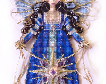 Brooke's Books Spirit of the Christmas Star Angel Dimensional Ornament INSTANT DOWNLOAD Cross Stitch Chart