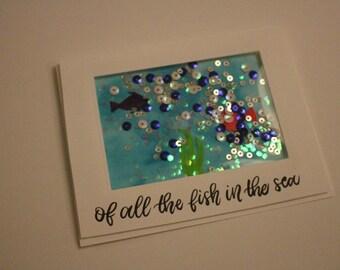 Fish In The Sea Shaker Card