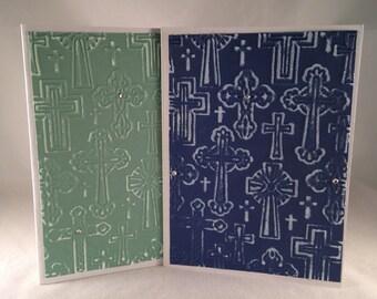 Set of 5 Crosses CLASSIC Sympathy Cards