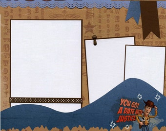 Woody - Premade Scrapbook Page - Toy Story