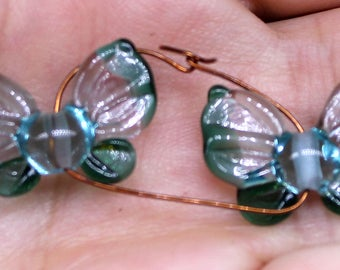 Butterfly beads pair