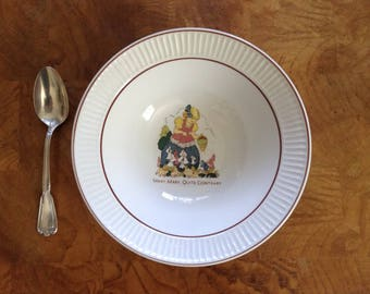 Vintage Baby Bowl Nursery Rhyme -  Mary Mary Quite Contrary