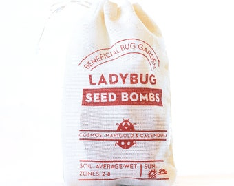 Ladybug Seed Bombs Flowers - beneficial bugs and pollinators
