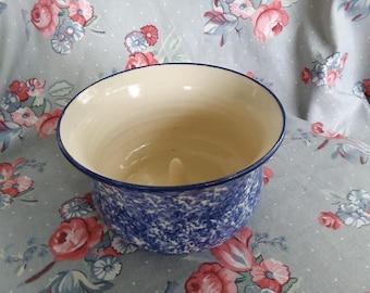 Vintage Handmade Pottery Apple Baker