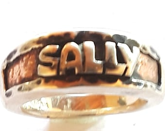Custom Name Ring Band Personalized Jewelry