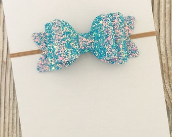 Baby bows, Newborn headband, Glitter bow headband, Baby bow headband, Girls hair bows, Bow hair clips, Baby headband, Baby girl hair bows