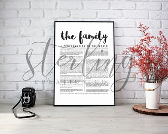 LDS The Family: A Proclamation to the World (Digital Print)