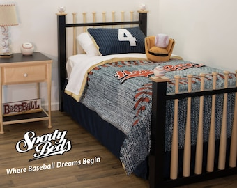 Twin Sized Grand Slam Baseball Bed by Sporty Beds