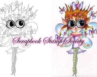 INSTANT DOWNLOAD Digital Digi Stamps Big Eyed Emily Frizzle FrazzleBesties Big Head Dolls Digi By Sherri Baldy