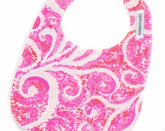 Lilly Pulitzer Bib - Lilly Pulitzer Pink Pout PBJ Bib - Ready to Ship