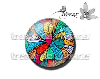 Multicolor cabochon glass, Retro, color, colorful, hand PA451