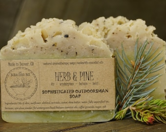 Pine Soap | Mens Soap, All Natural Soap, Artisan Soap, Man Soap, Woodland Soap, Gift for Him, Natural Soap, Cold Process Soap