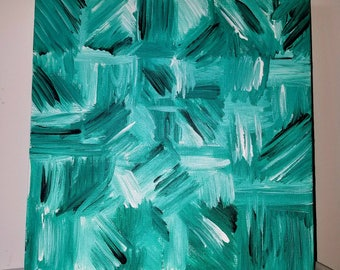 Green contemporary painting