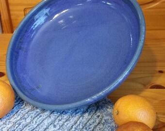 Ultramarine Blue Deep Dish Platter