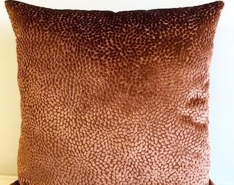 Copper Velvet Pillow Cover,18x18 Pillow Velvet,Copper  Pillow, Designer Pillow, Velvet Pillows, Velvet Cushion Cover,Copper Sofa Pillow