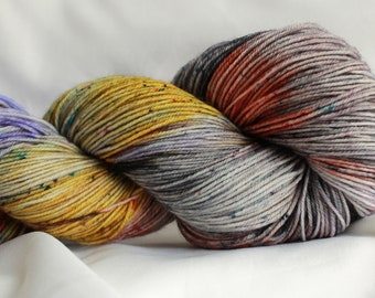 EVERYDAY OUTFIT- Speckled super wash merino nylon sock 100 grams 463 yds 75, 25 free shipping