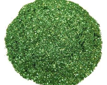Green Glitter, Moss Green, SOLVENT RESISTANT, Glitter, 0.015 Hex, Slime, Glitter Nail Art, Nail Polish Glitter, Glitter Crafts, Nail Polish