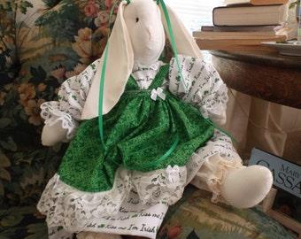 Irish Stuffed Bunny Rabbit