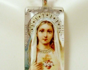 Immaculate heart of Mary pendant with chain - GP12-178