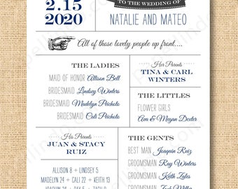 DIY Printable Fun Wedding Program Fan