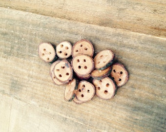 Wood Ring Buttons