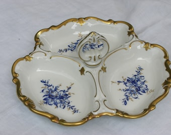 Serving Bowl - Canape Server - Serving Dish - Reichenbach - German China - Vintage