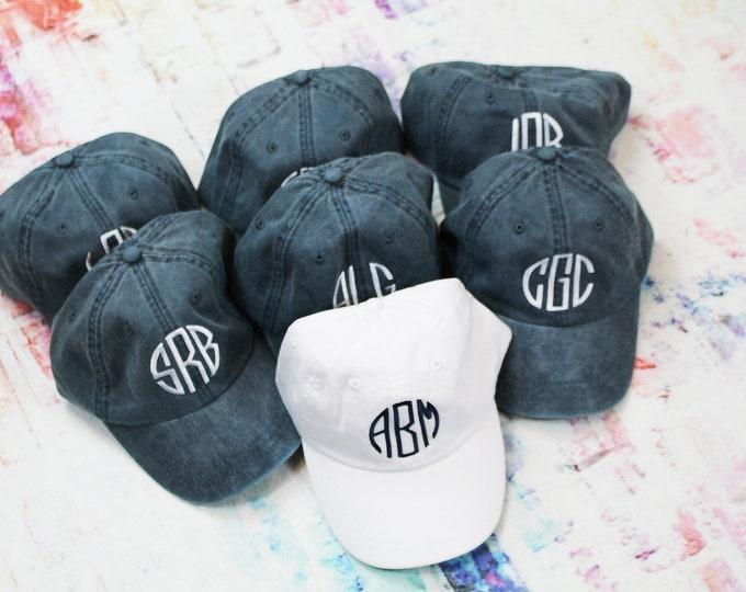 Baseball Cap Monogrammed Hat, Bridesmaid Gift, Groomsman Gift, Personalized, Monogrammed